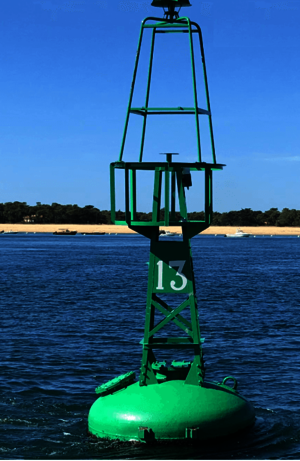 COAST-HF network buoy in the Arcachon basin, managed by CDS-IS-OASU